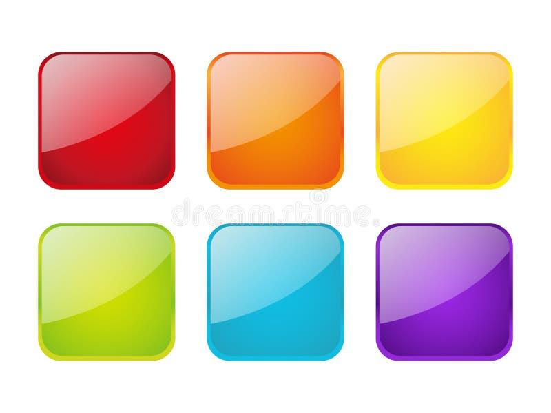 Set apps Ikonen lizenzfreie abbildung