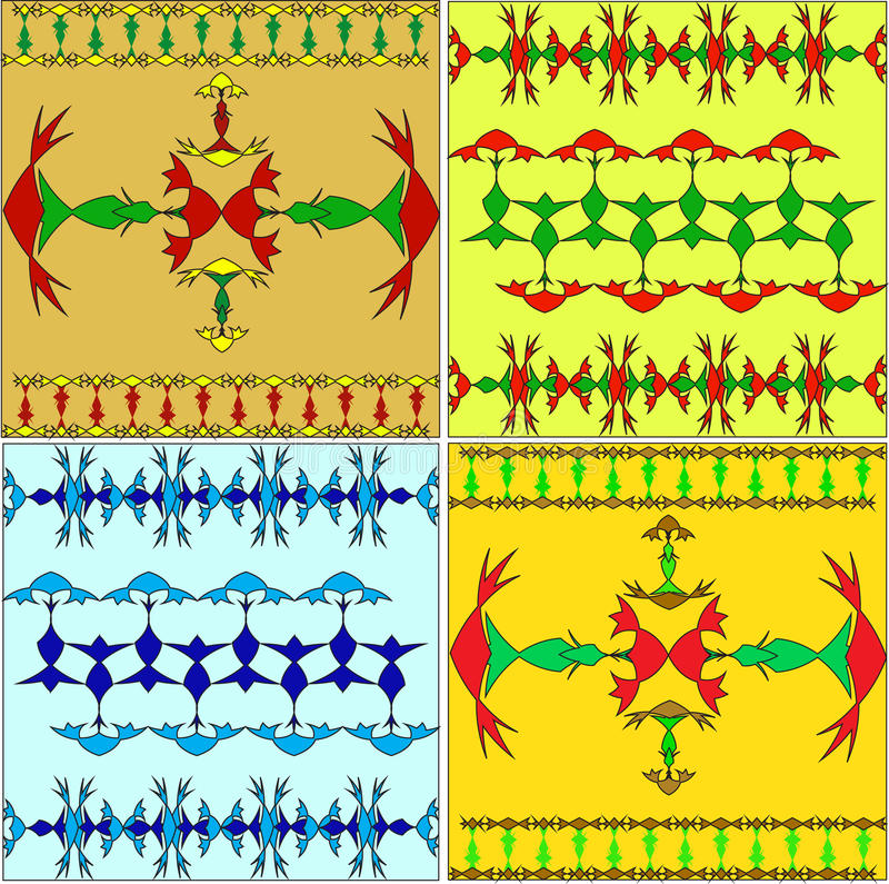 Set Of The Arabian Ornaments Royalty Free Stock Photography
