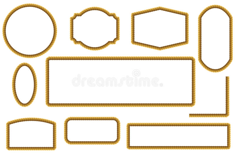 Set arkany ramy projekta elementy ilustracja wektor