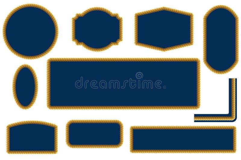 Set arkany ramy projekta elementy ilustracji