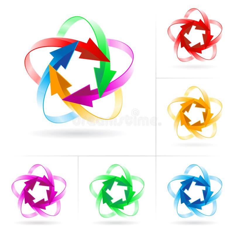 Set of arrow circles stock image