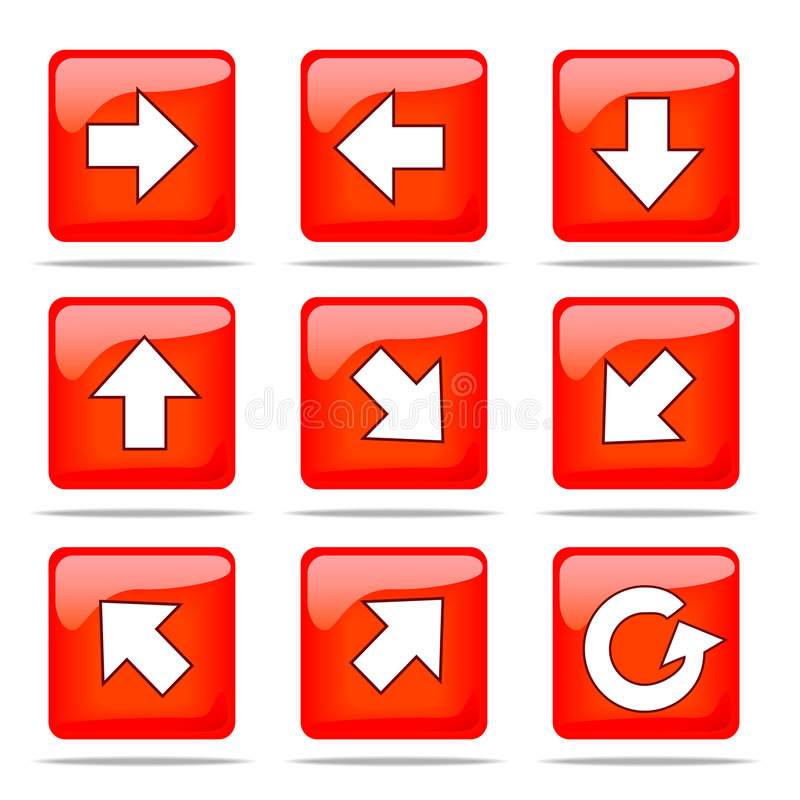 Download Set of arrow icons stock vector. Image of sign, cursor - 5247974