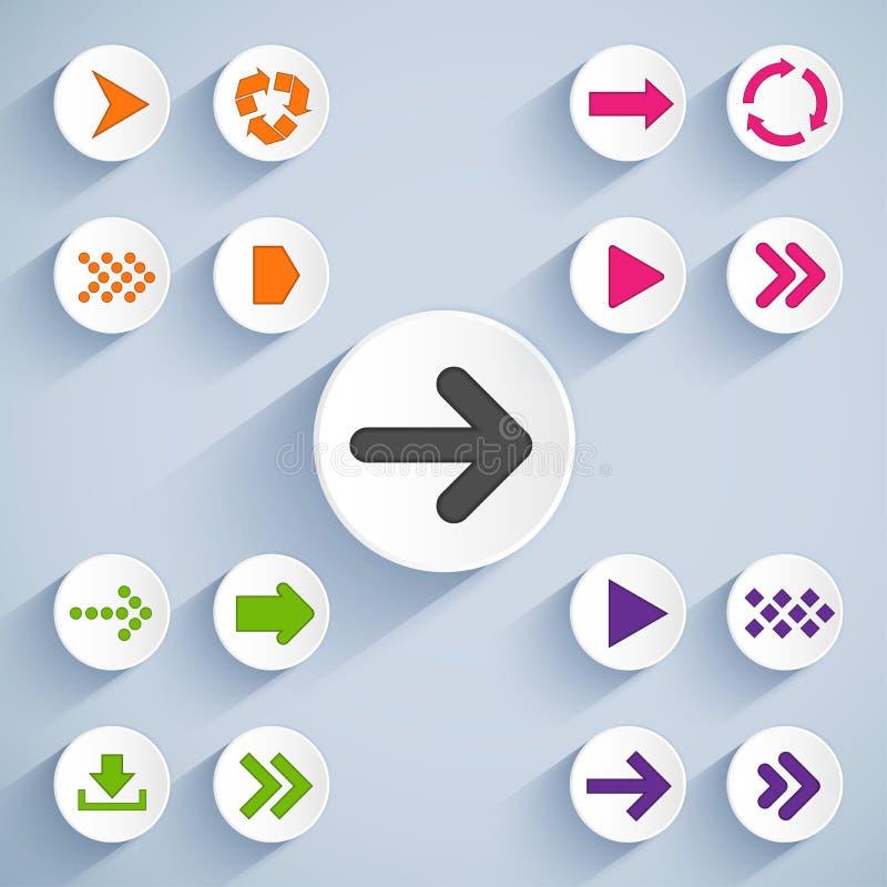 Set of arrow icons vector illustration