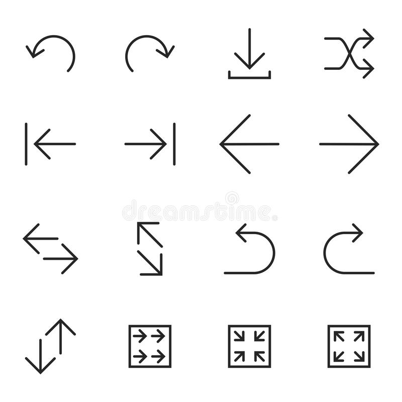 Set of Arrow Icons-Vector Iconic Simple Line vector illustration