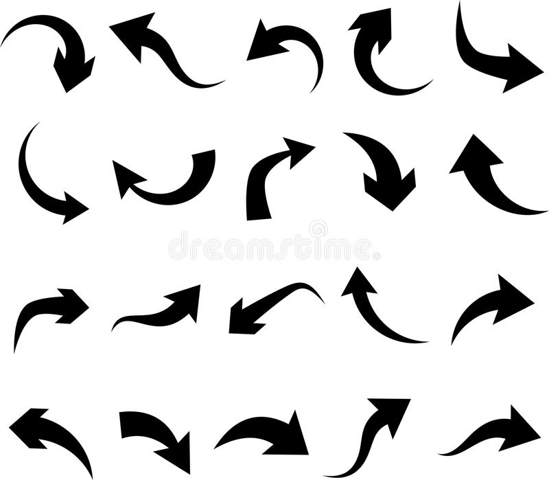 Set of arrow icons. stock illustration