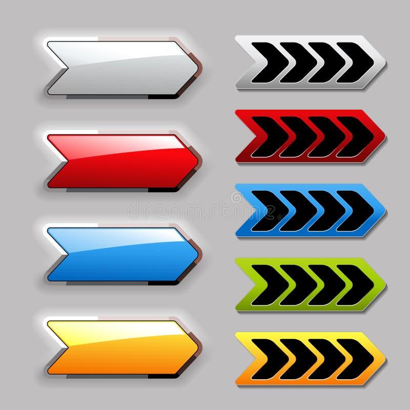 Set Of Arrow Next Buttons Stock Images