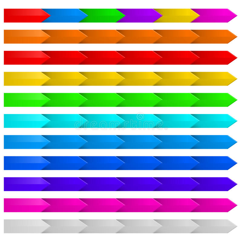 Set Of Arrows. Stock Photography