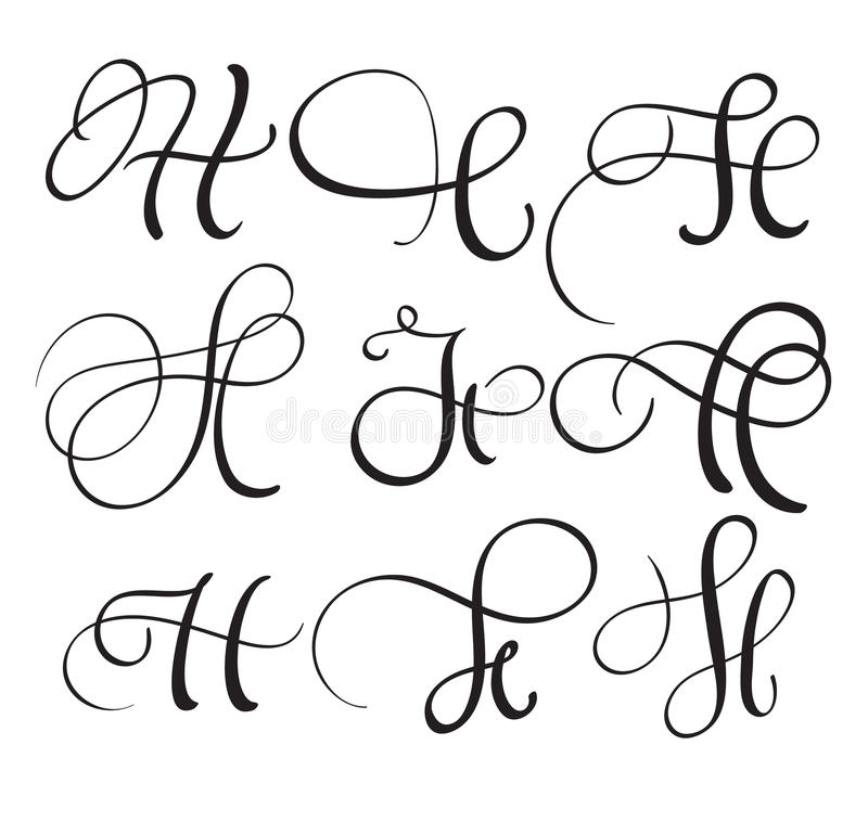 Calligraphy Letter H Designs