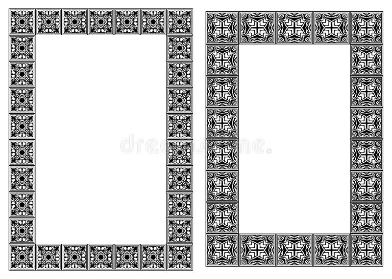 Download Set Of Art Nouveau  Vertical Frames Stock Vector - Image: 22279335