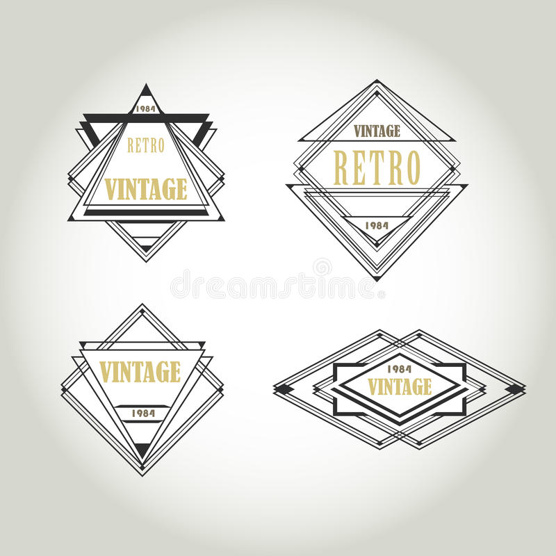 Set Of Artdeco Vintage Labels, Logo, Frames Stock Vector ...