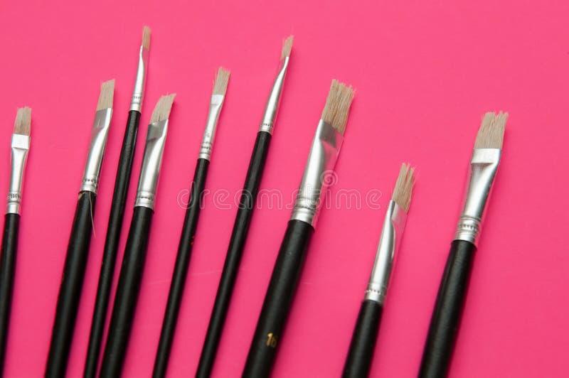 Set artysta farby muśnięcia zdjęcie royalty free