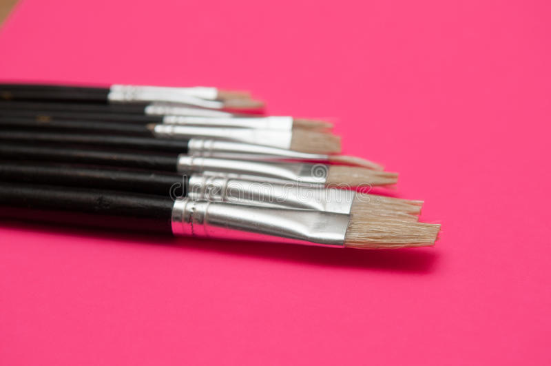 Set artysta farby muśnięcia fotografia royalty free