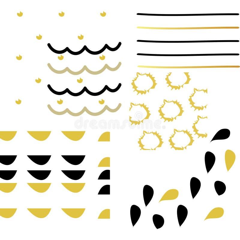 Set artystyczna kreatywnie ręka rysować tekstury i muśnięcie Projekt dla plakata, karta, zaproszenie, ulotka ilustracji