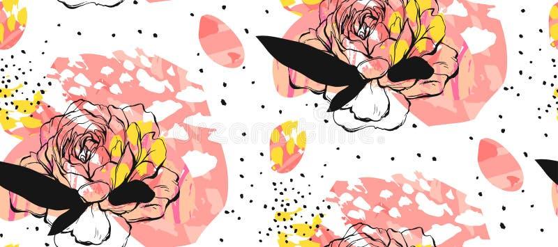 Set artystyczne kreatywnie cech ogólnych karty Ręki Rysować tekstury Poślubiający, rocznica, urodziny, walentynki ` s dzień, przy ilustracja wektor