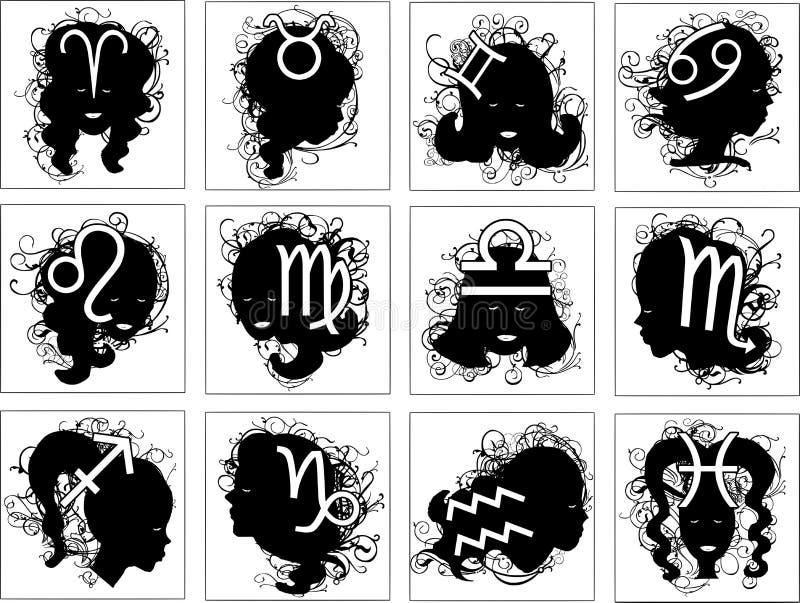Set of astrology symbols royalty free stock image