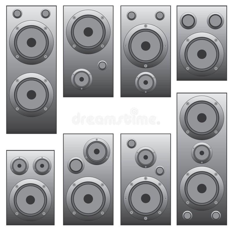 Download Set of audio speakers. stock vector. Illustration of enjoyment - 27653450
