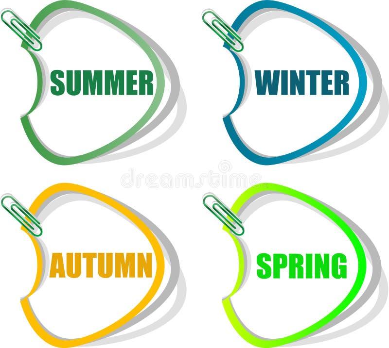 Set Aufkleber Für Saisonansammlung Lizenzfreie Stockbilder