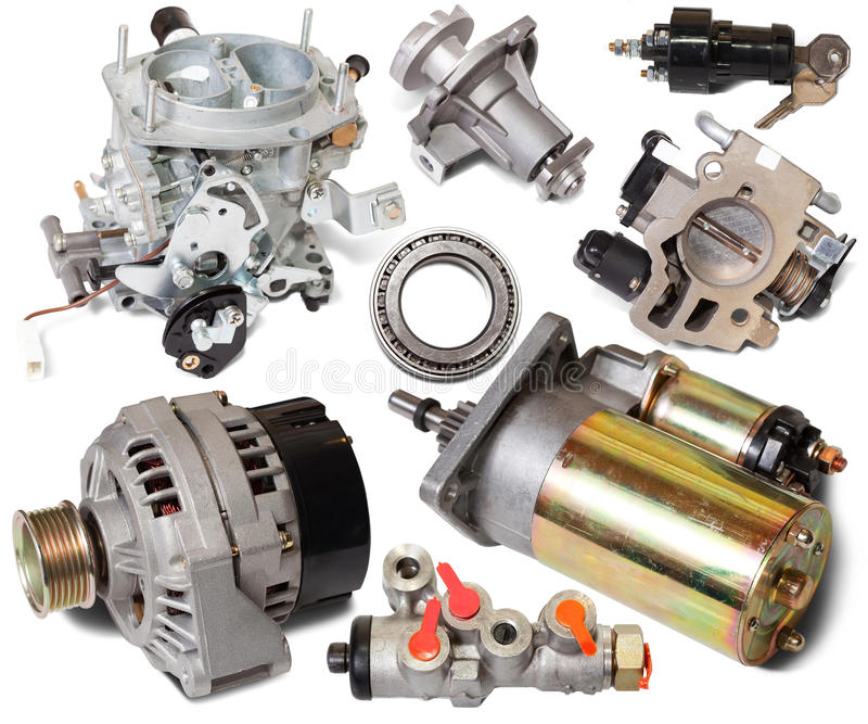 Download Set of auto spare parts stock image. Image of different - 21691657