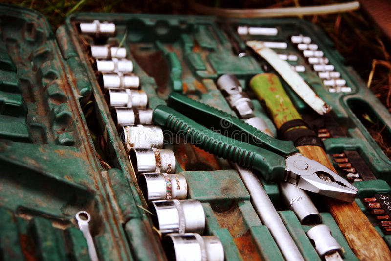 Set automobilowi narzędzia fotografia stock