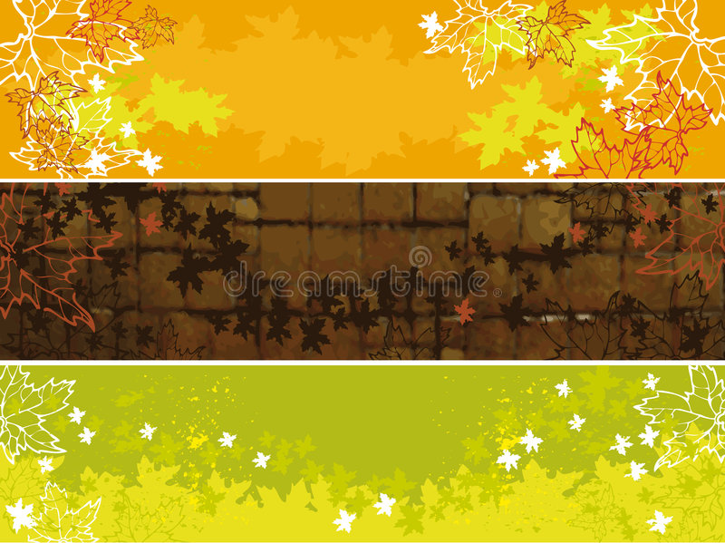 Download Set of autumn banners stock vector. Image of ornate, ornament - 6492023