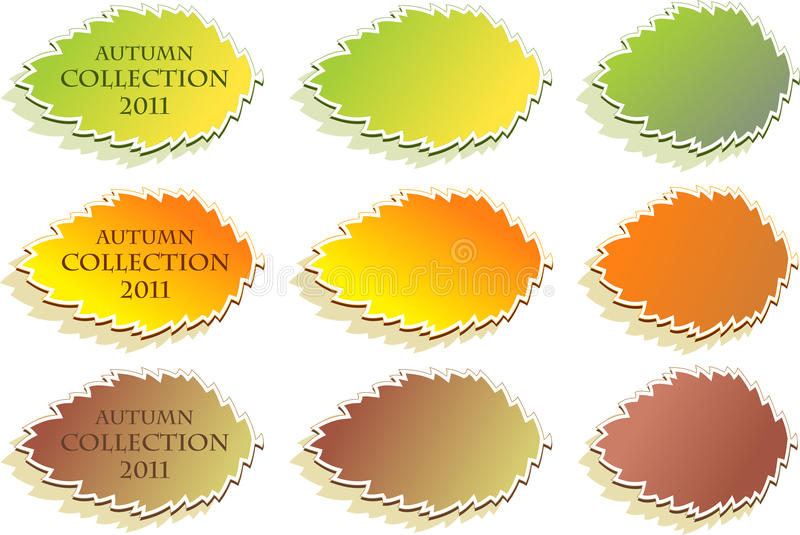 Set Of Autumn Stickers Stock Image