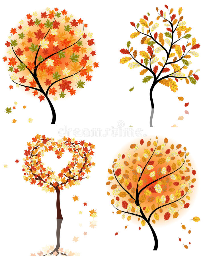 Download Set  Autumn Tree Royalty Free Stock Images - Image: 26663119