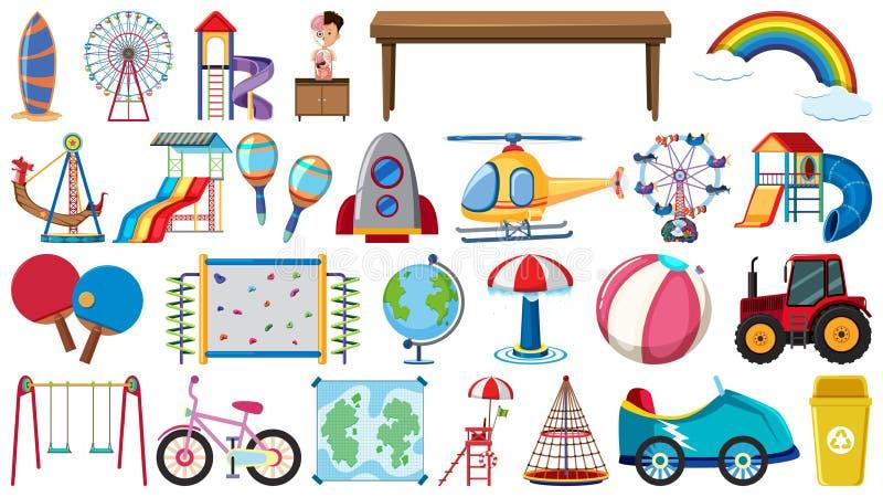 Set av barntoys royaltyfri illustrationer