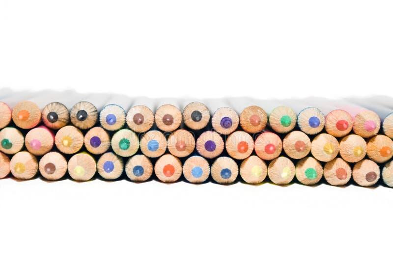 Set av färgläggningblyertspennor royaltyfri foto