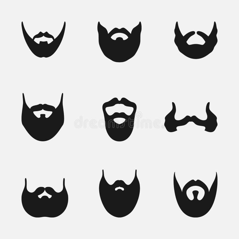 Set av frisyrer stock illustrationer