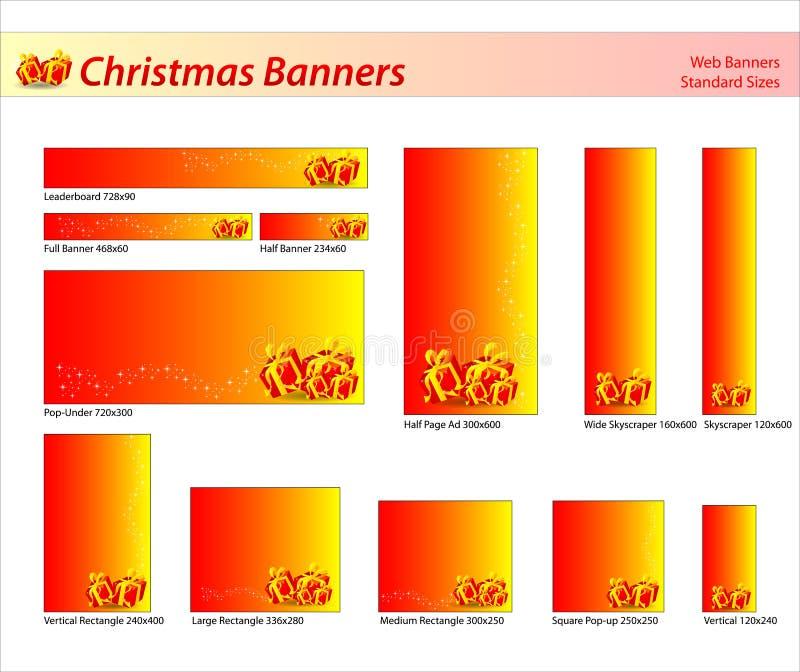 Set av julrengöringsdukbaner arkivbilder