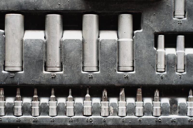 Set av justerbara metalliska tangenter för bilar arkivfoton