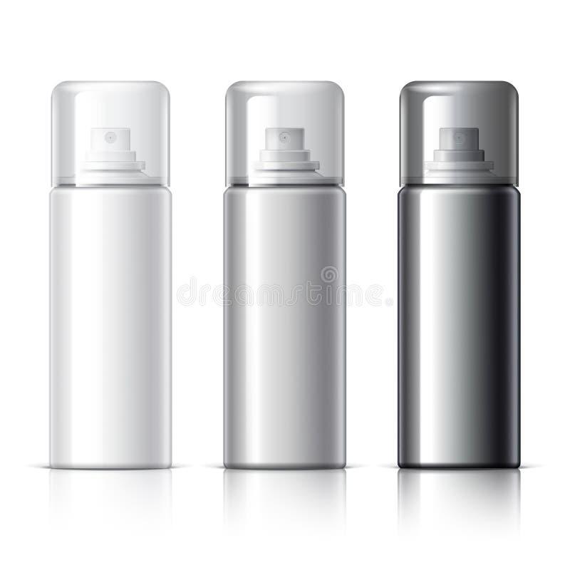 Set av kosmetiska produkter vektor illustrationer