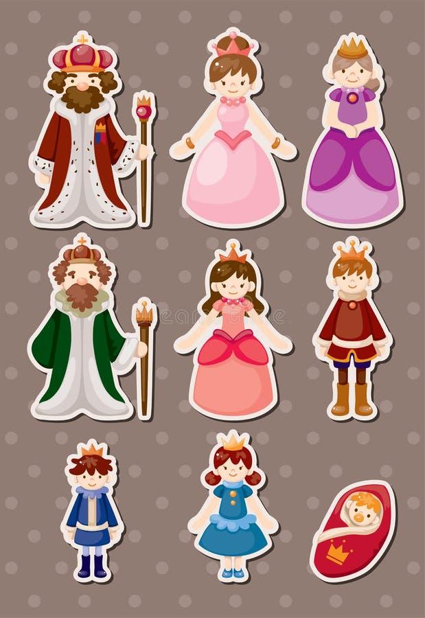 Set av kungliga folksyickers royaltyfri illustrationer