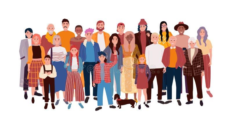 Set av olikt folk vektor illustrationer