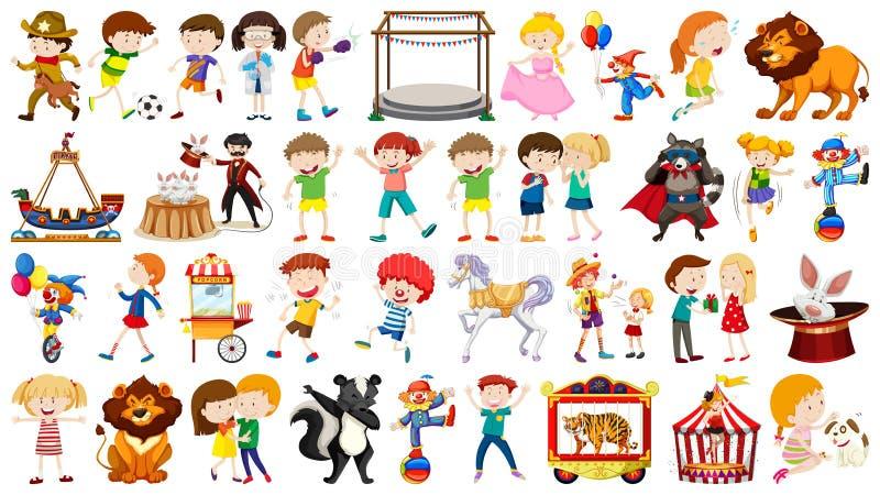 Set av olikt folk royaltyfri illustrationer