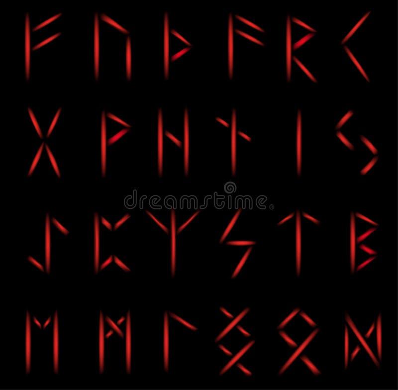 Set av runor royaltyfri illustrationer