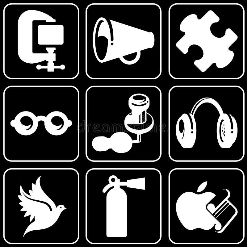 Set av symboler (andra) vektor illustrationer