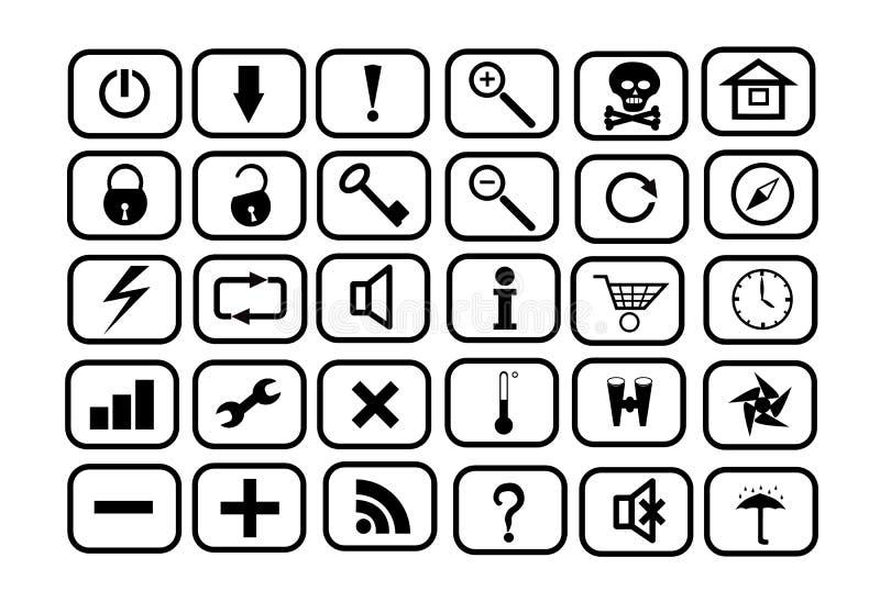Set av symboler för RENGÖRINGSDUK stock illustrationer