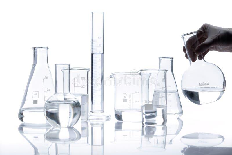 Set av tomma glass flaskor royaltyfria foton