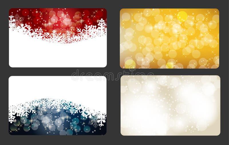 Set av vektorjul/det nya året baner (kort) royaltyfri illustrationer
