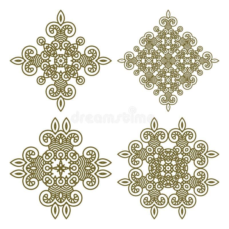 Set aztec ornaments stock illustration