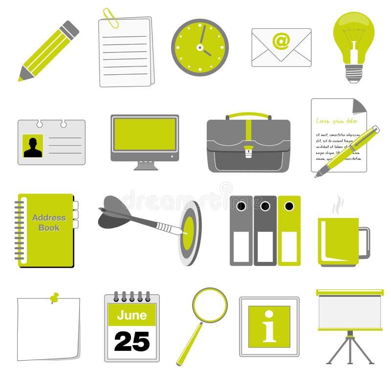 Set Büro- und Geschäftsikonen stock abbildung