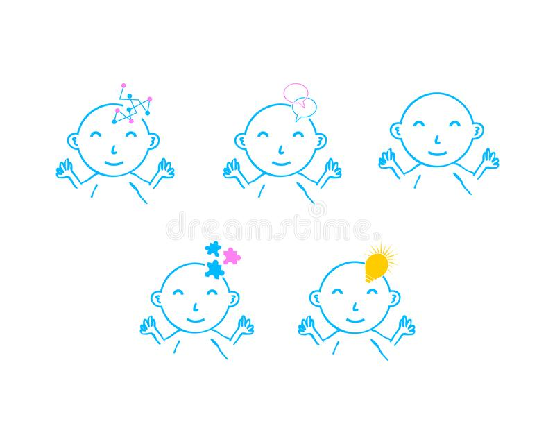 Set of Baby logo template royalty free illustration