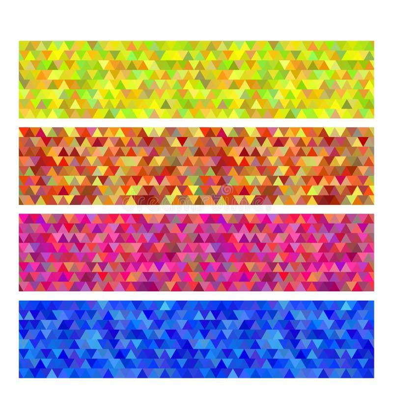 Set background horizontal banner headline website color. Design elements business presentation template. Vector illustration horizontal web banners background royalty free illustration