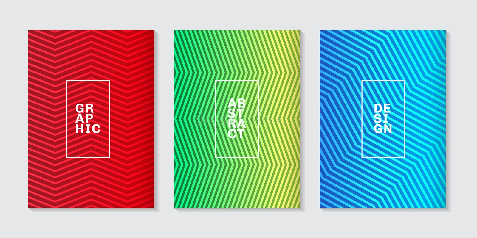 Set of background minimal covers design abstract cool halftone gradient line pattern. Future geometric template vector illustration