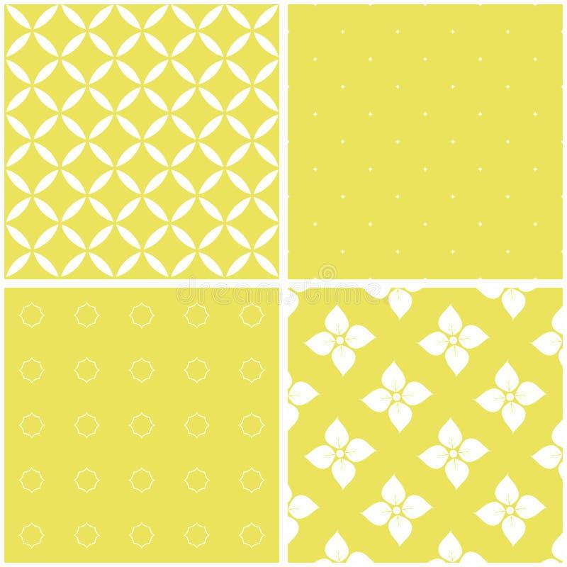 Set of 4 background patterns. stock illustration