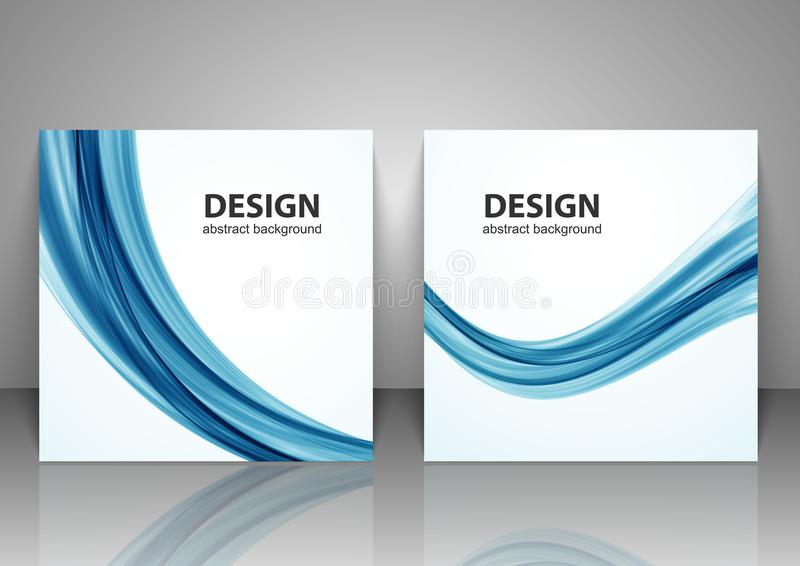 Set of backgrounds. Abstract wave background. vector illustration
