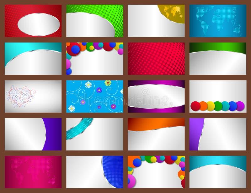 Set of business cards. Set of backgrounds for business or credit cards vector illustration