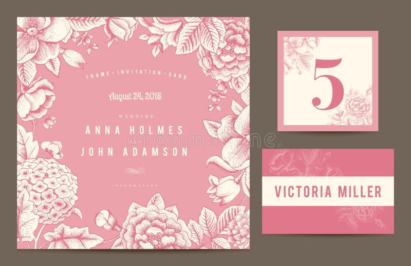 Set backgrounds to celebrate the wedding. royalty free illustration