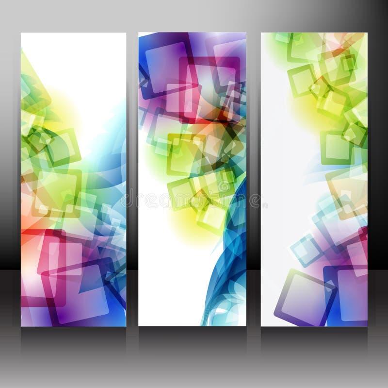 Set of Backgrounds. Vector eps10. royalty free illustration